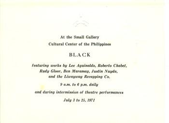 Black — Exhibition Invitation