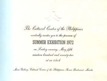 Summer Exhibition 1972 — Exhibition Invitation