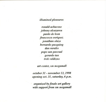 Illumined Pleasures — Exhibition Invitation