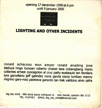 Lighting and Other Incidents — Flyer