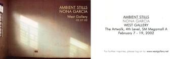 Ambient Stills — Exhibition Invitation