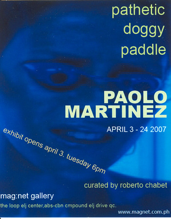 Pathetic Doggy Paddle — Exhibition Invitation