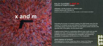 X and M — Exhibition Invitation