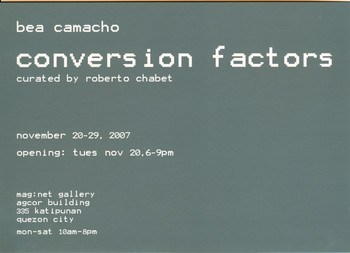 Conversion Factors — Exhibition Invitation