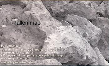 Fallen Map — Exhibition Invitation