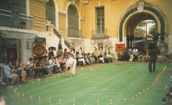 A set for the performance of The Hurt