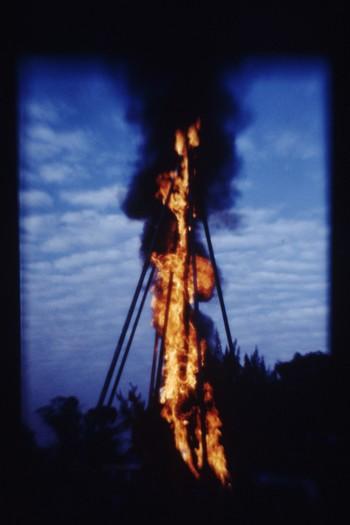 Fire Sculpture (Exhibition View)