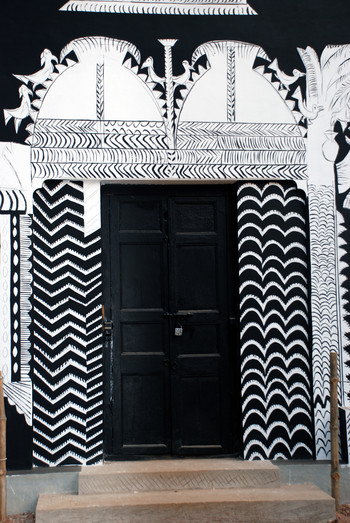 Black and White Mural (South Side) (Detail)