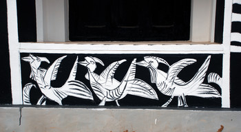 Black and White Mural (Detail)