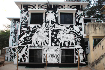 Black and White Mural (North Side)