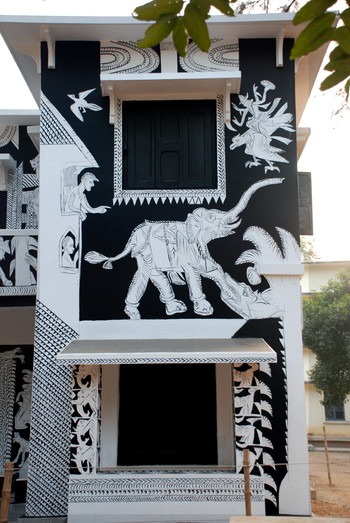 Black and White Mural (Partial)