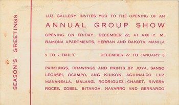 Annual Group Show — Exhibition Invitation