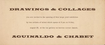 Drawings and Collages — Exhibition Invitation