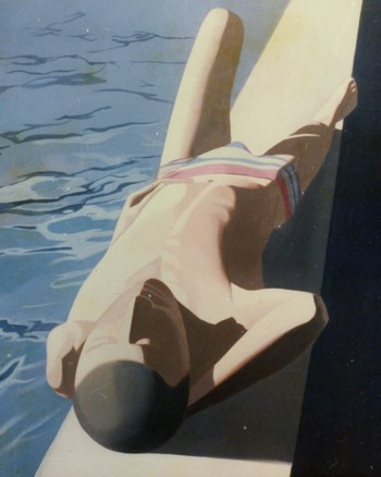 (Swimmer on His Back)
