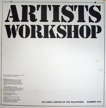 Artists Workshop — Exhibition Poster