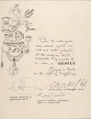 Certificate of Genius