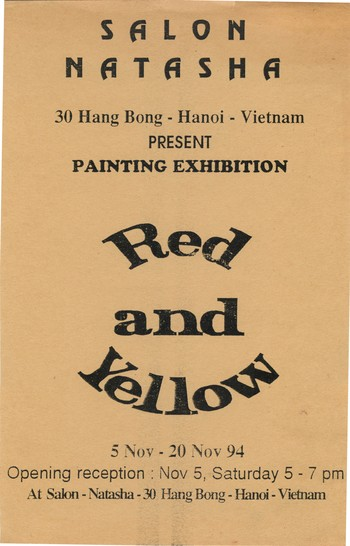 Red and Yellow — Exhibition Poster