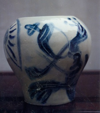 Ceramic Vase Painted by Mai Chi Thanh