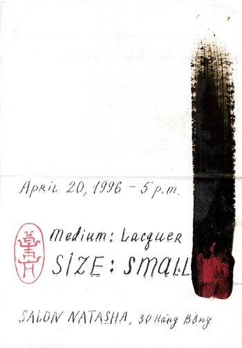 Medium-Lacquer . Size-Small — Exhibition Invitation