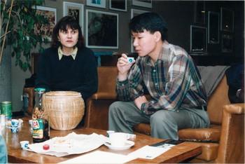 Natasha Kraevskaia and Jun Nguyen-Hatsushiba at Salon Natasha's Exhibition Space