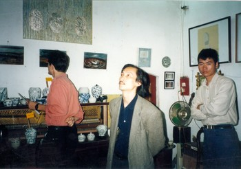 Peter Mares, Nguyen Xuan Tiep, and Nguyen Manh Hung at the Opening of Looking In