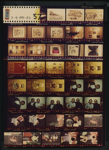 Contact Sheet of Photographs of Four Unidentified Events, 3 and 4 April 1982