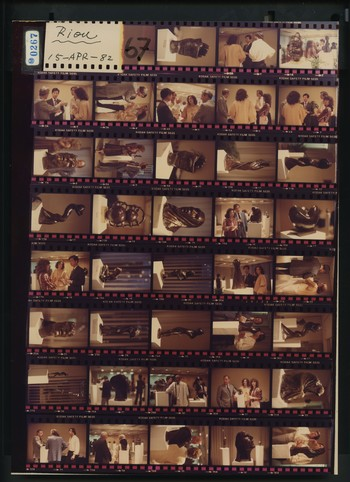 Contact Sheet of Photographs of An Exhibition of Bronze Sculptures by Jean-Pierre Riou (1 of 4), 15
