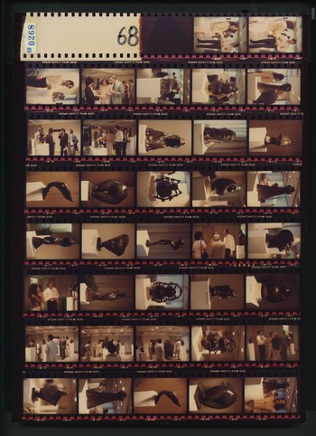 Contact Sheet of Photographs of An Exhibition of Bronze Sculptures by Jean-Pierre Riou (2 of 4), 198