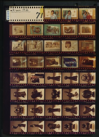 Contact Sheet of Photographs of An Exhibition of Bronze Sculptures by Jean-Pierre Riou (4 of 4), 198