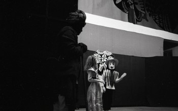 Preparation for the Live Puppet Show for Fine Arts Fair, 1968