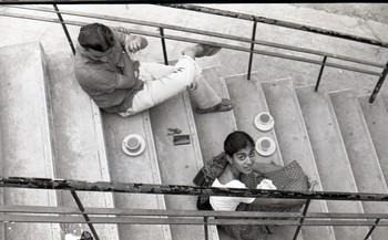 Jyotsna Bhatt During Preparation for the Fine Arts Fair, 1968.