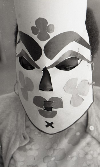 Participant with a Mask at Fine Arts Fair, 1968