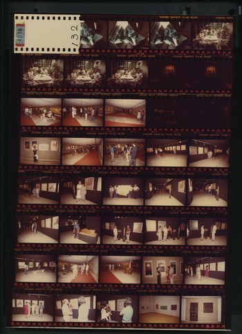 Contact Sheet of Photographs of Group Exhibition at Metropolitan Museum of Manila in Philippines (6