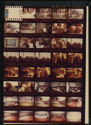 Contact Sheet of Photographs of Group Exhibition at Metropolitan Museum of Manila in Philippines (9