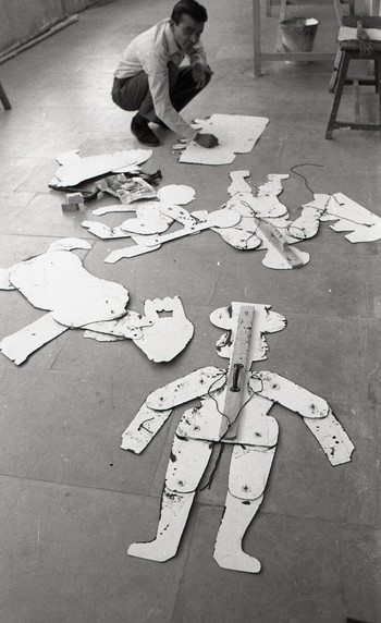 Vinodray Patel During the Preparation for the Fine Arts Fair, 1969