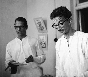 Portrait of K.K. Hebbar and Sankho Chaudhuri