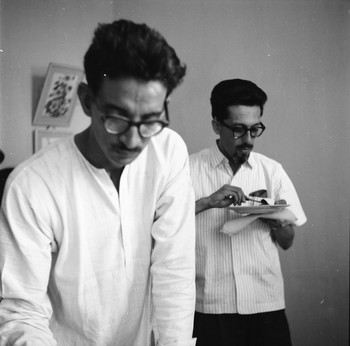 Portrait of Sankho Chaudhuri and Chapgar