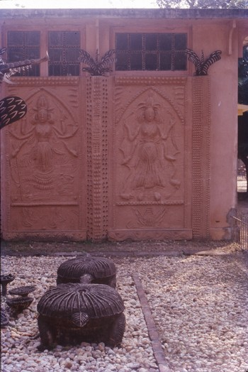 Partial View of the Sand-Cast Cement Mural, Kala Bhavan, 1988