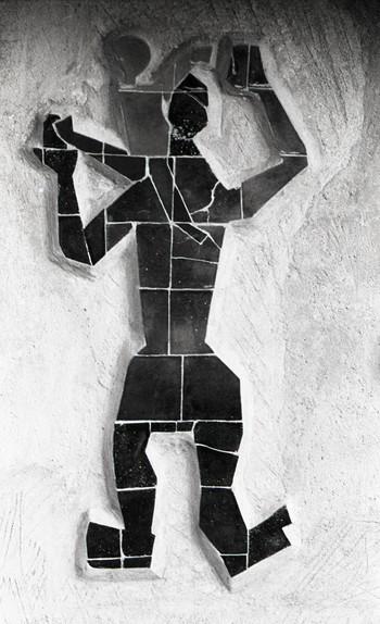 Gesticulation Figures in Ceramic Tiles (Detail)