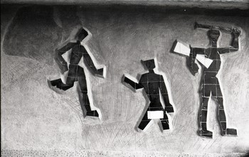 Gesticulation Figures in Ceramic Tiles (Partial)