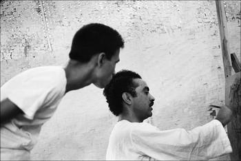 Portrait of Shanti Dave and G.R. Santosh