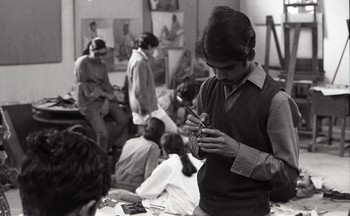 Preparation for the Fine Arts Fair, 1970