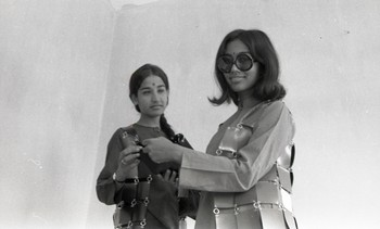 Shrilekha Sikander and Her Classmate at the Fine Arts Fair, 1970