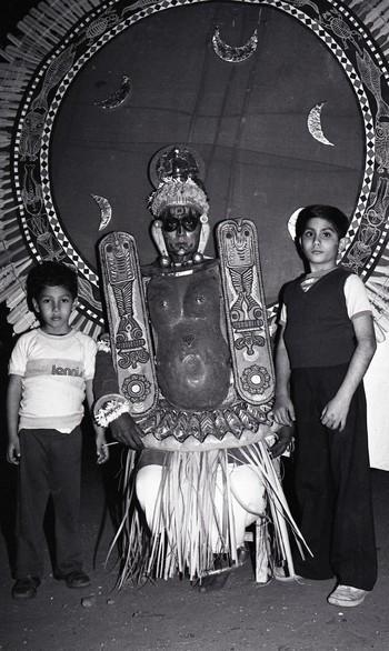 Asokan Poduval Performing Teyyam at the Fine Arts Fair, 1983