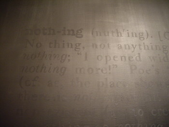 Nothing to Paint (After Joseph Kosuth) (Detail)