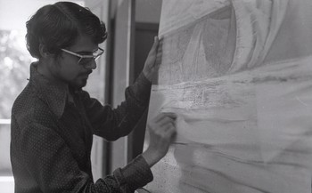 Vinod Dave at the Department of Painting