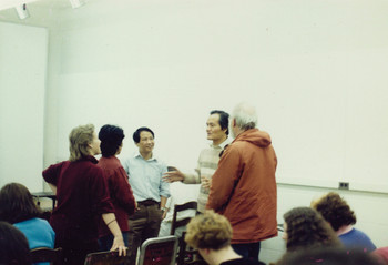 At a Lecture at University of Minnesota