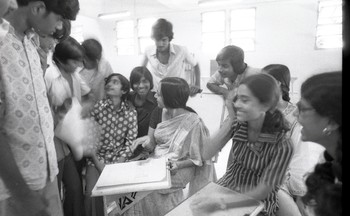 Nasreen Mohamedi with Students