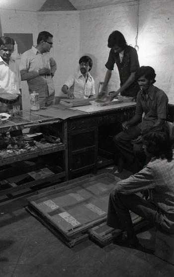 Photograph of Vinodray Patel, Jyoti Bhatt, P.D. Dhumal and Others