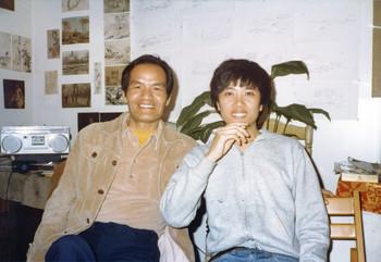 Zheng Shengtian and Chen Danqing, New York, 1982